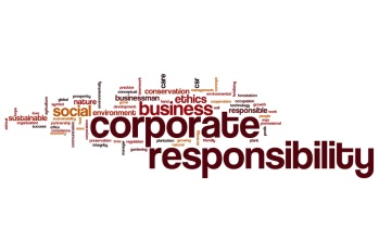 Corporate responsibility word cloud concept